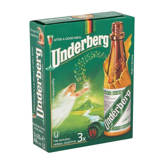 Underberg 3-pack (3 × 20ml)