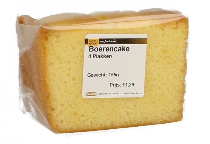 Korengoud Boerencake 4 plakken (155g)