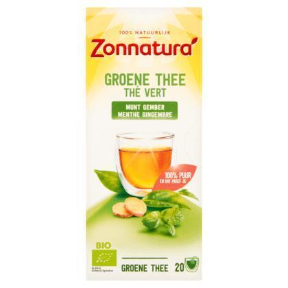 Zonnatura Azië groene thee gember pepermunt (40g)