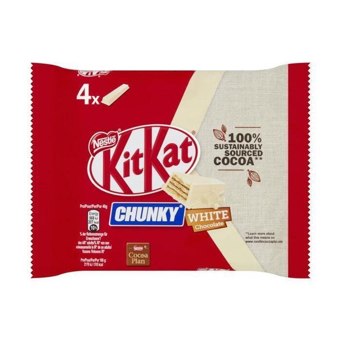 Kitkat Chunky white (4 × 160g)