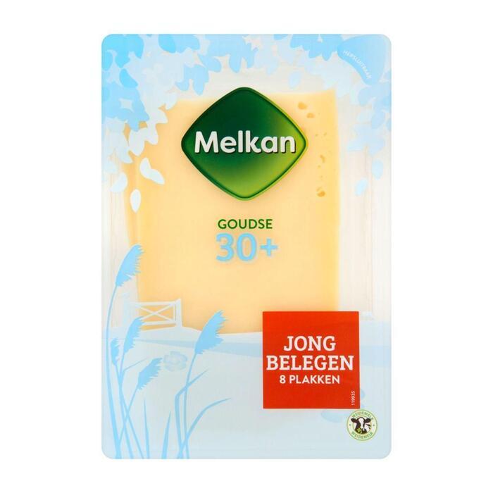 Melkan Jong belegen 30+ kaas plakken (plastic, 175g)