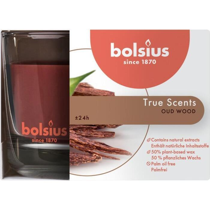 Bolsius Geurglas medium oud wood