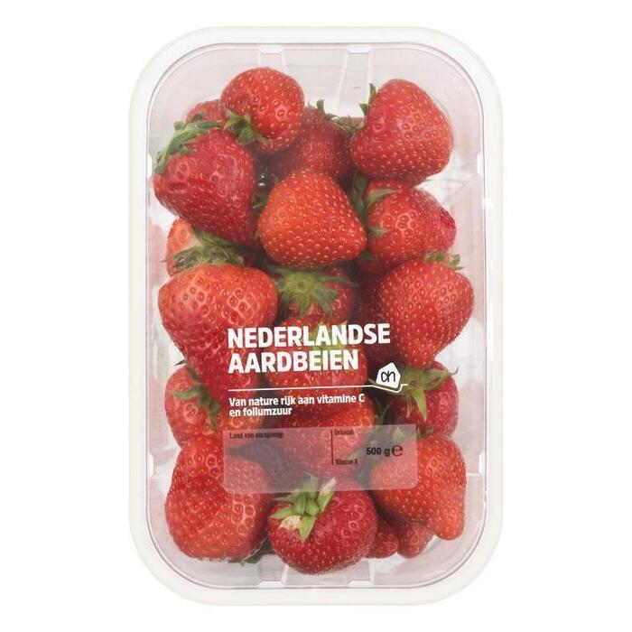 Hollandse aardbeien (plastic, 500g)