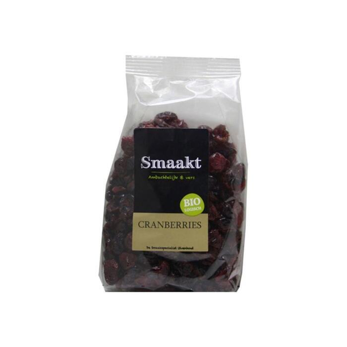 Biologische Cranberries (zak, 250g)