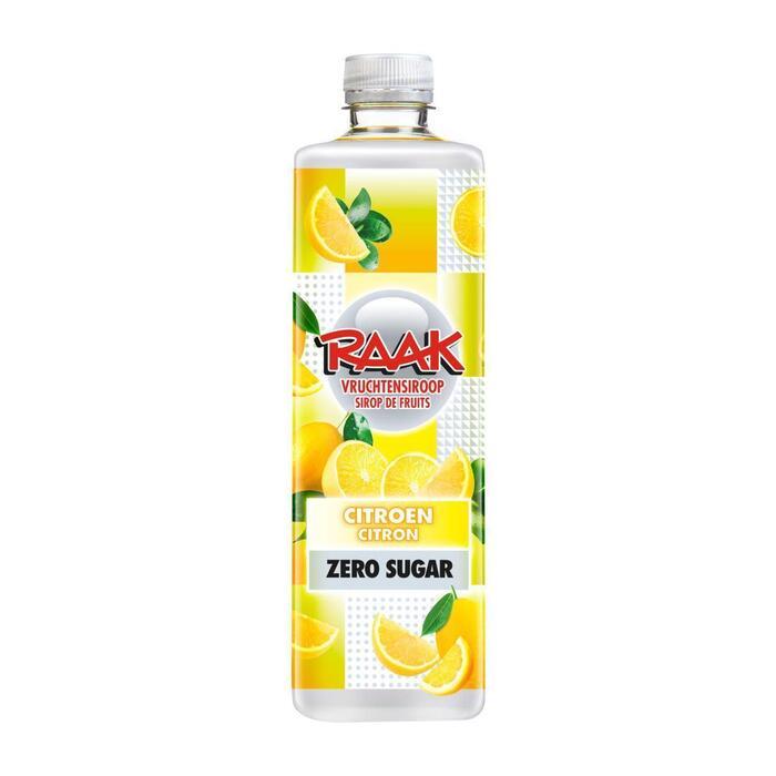 Raak Vruchtensiroop Citroen Zero Sugar 0,75 L (0.75L)