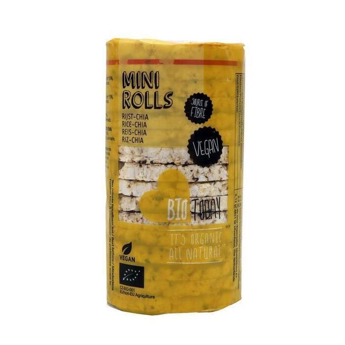 Bio Today Mini Rolls Rijstwafels met Chia 44 g (44g)
