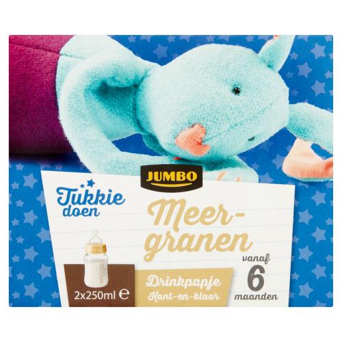 Jumbo Tukkie Doen Meergranen Drinkpapje vanaf 6 Maanden 2 x 250 ml (2 × 250ml)