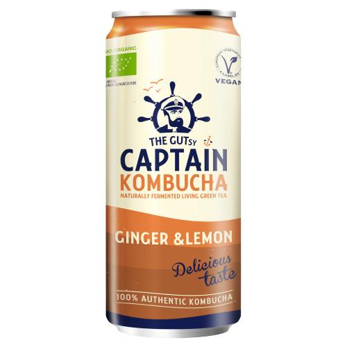 Captain Kombucha Ginger lemon (rol, 25 × 250ml)