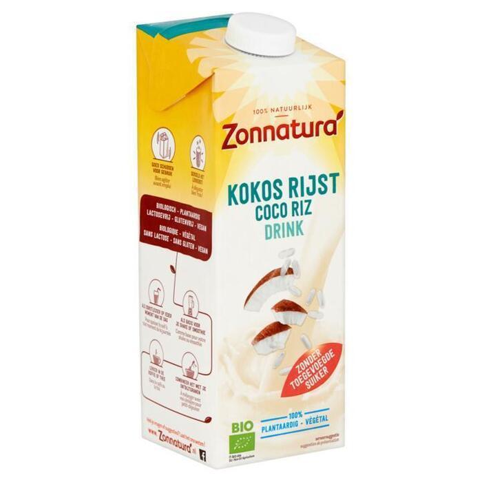 Zonnatura Kokos & Rijst Drink 1L (pak, 1L)