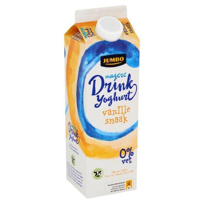 Magere Drinkyoghurt Vanillesmaak 0% Ve (pak, 1L)