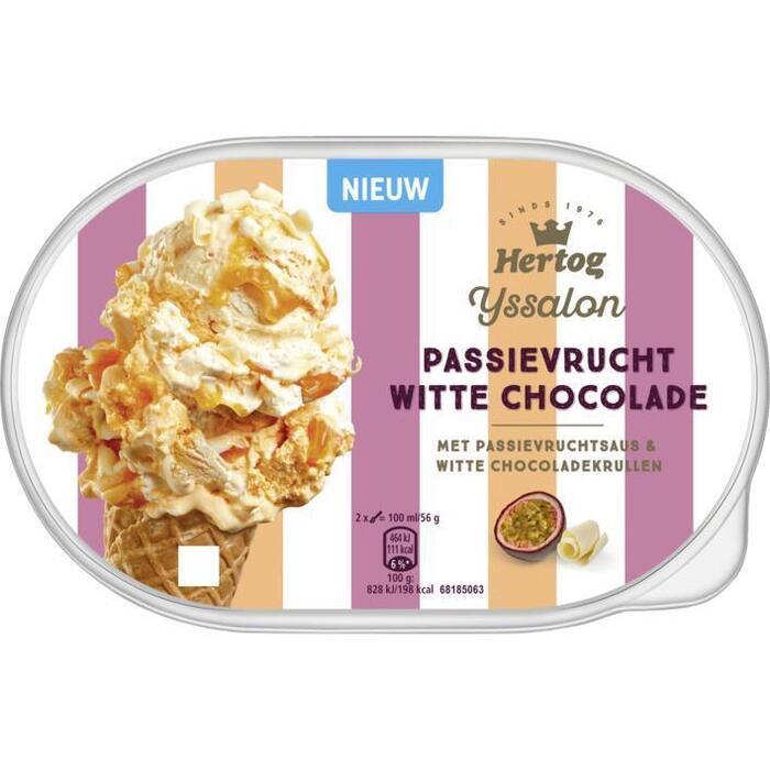 Hertog Ijssalon passievrucht witte chocolade (0.9L)