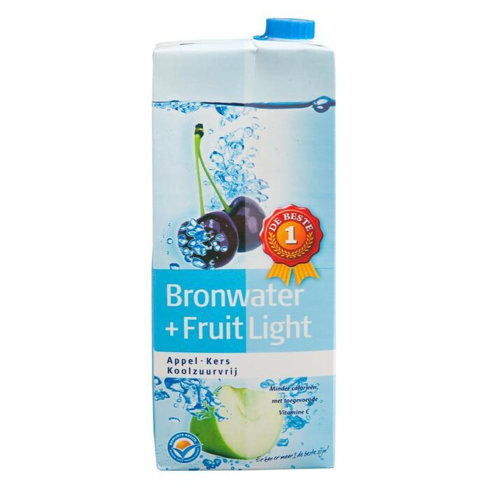 Bronwater + fruit light appel-kers (1.5L)