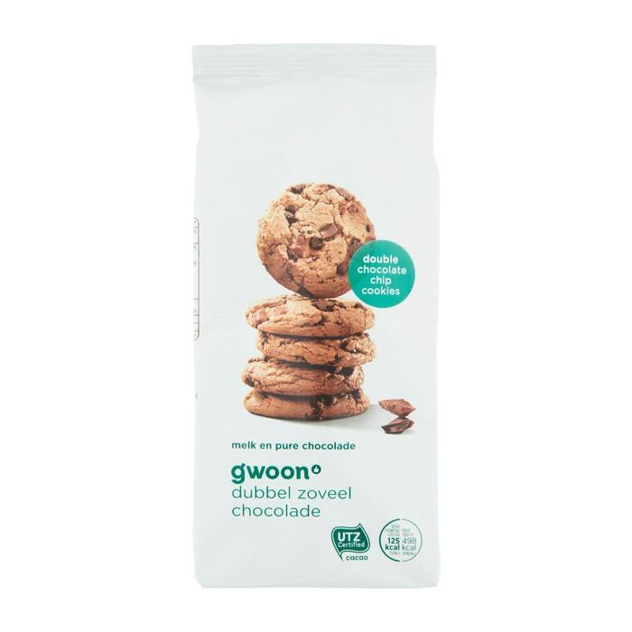 g'woon double chocolate chip cookies (200g)