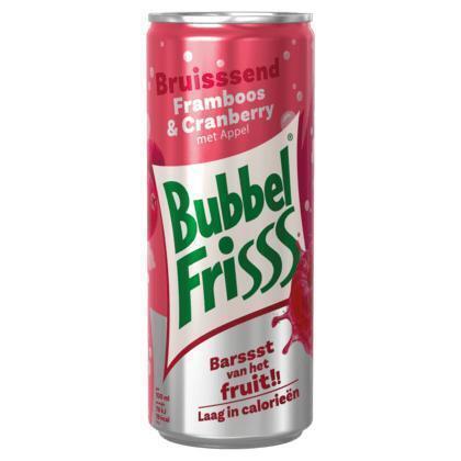 Dubbelfrisss Bubbelfrisss Framboos-Cranberry 250 ml blik (rol, 25 × 250ml)