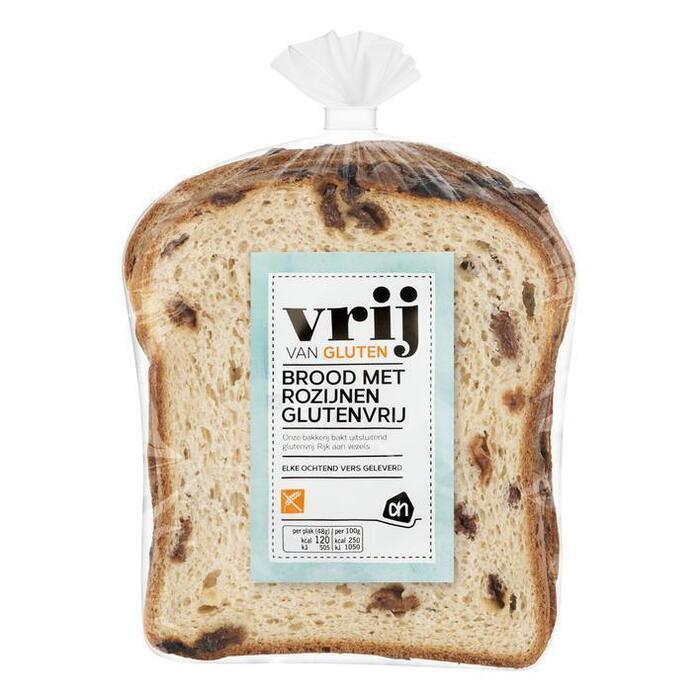 AH Glutenvrij rozijnen brood 5 plak