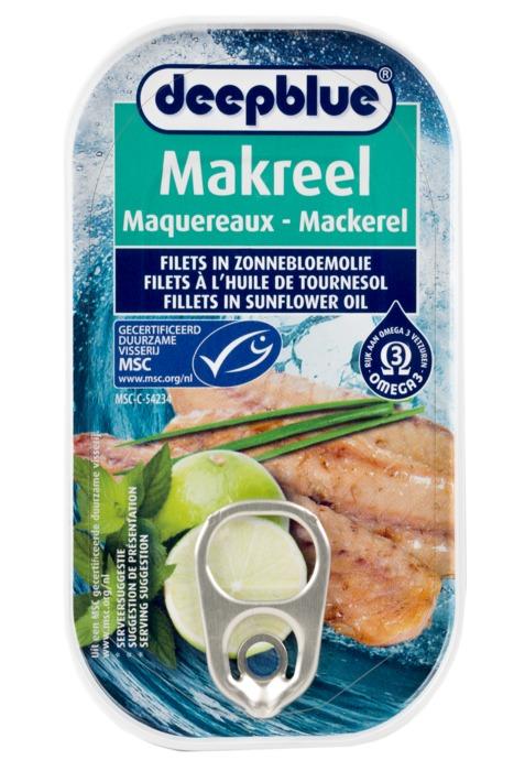 Makreel in zonnebloemolie (blik 125g) (125g)