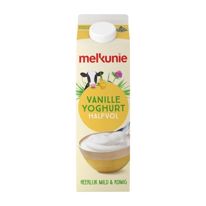 Vanille yoghurt  halfvol (pak, 1L)