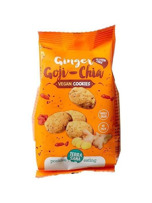 Glutenvrije koekjes met gojibessen, chiazaad en gember TerraSana 150g (150g)