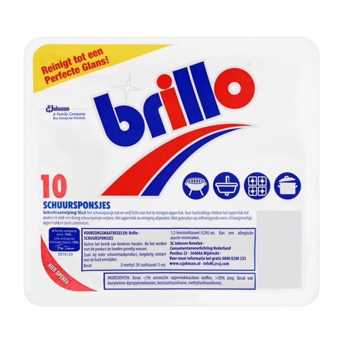 Mr. Muscle Brillo 10 Schuursponsjes (10 × 130g)