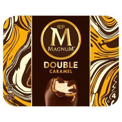 Magnum Double Caramel 4 st (Stuk, 4 × 35.2cl)