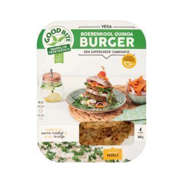 GoodBite Boerenkool Quinoa Burger (4 × 40g)