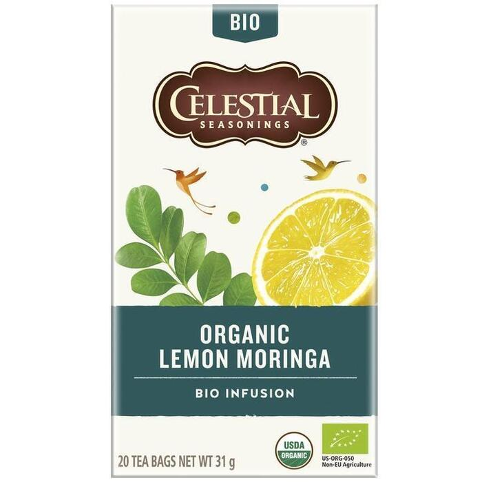 Celestial Seasonings Organic Lemon Moringa (20 × 31g)