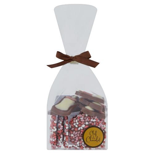 Chef du Chocolat Geboorte Mix Meisje Zakje 140 g (140g)