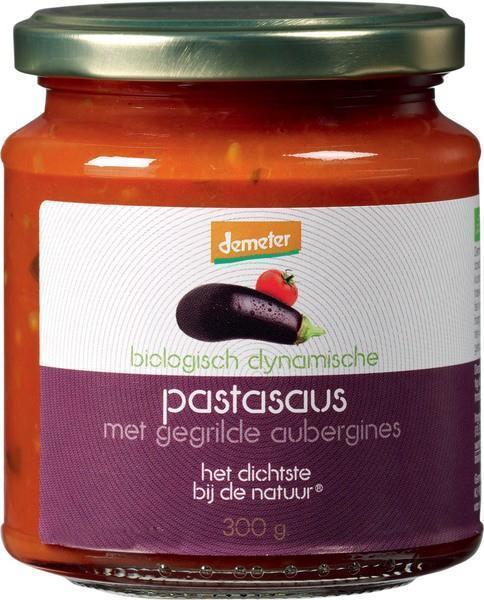 Biologisch dynamische Pastasaus met gegrilde aubergines (pot, 300g)