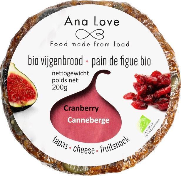 Vijgenbrood cranberry (200g)