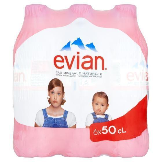 Evian natuurlijk mineraalwater (Petfles, 6 × 0.5L)