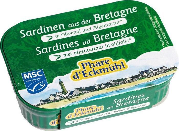 Sardinefilets met algentartaat in olijfolie (135g)