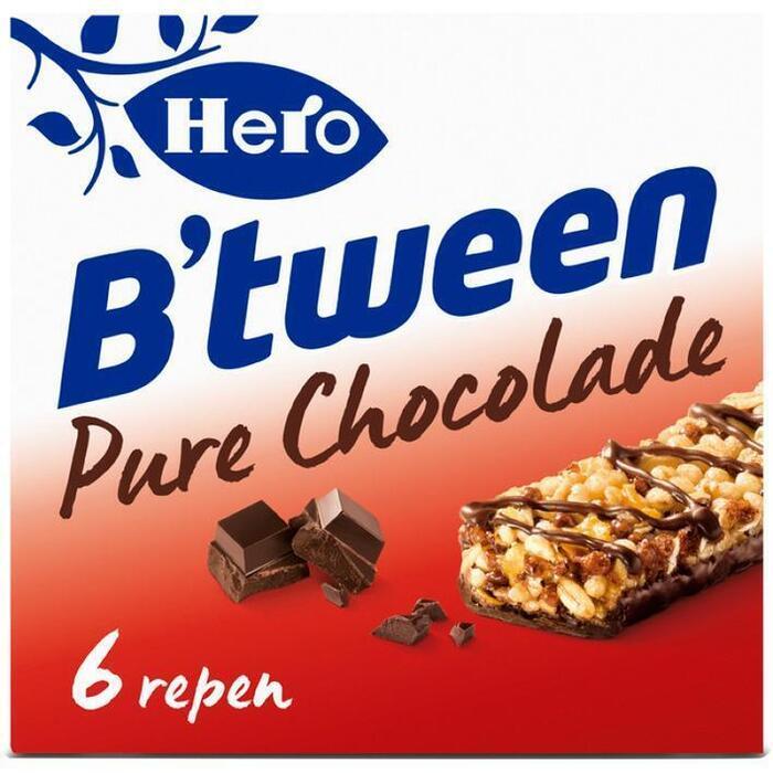 Hero B'tween pure chocolade (6 × 23g)