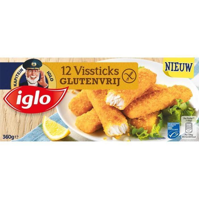 Iglo Vissticks glutenvrij (12 × 360g)