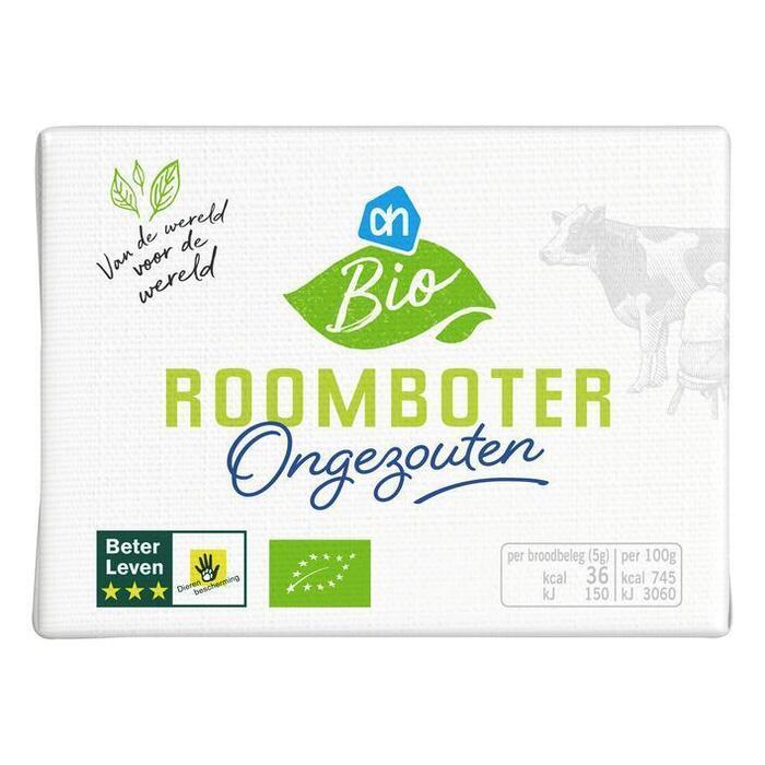 AH Biologisch Roomboter ongezouten (pak, 250g)