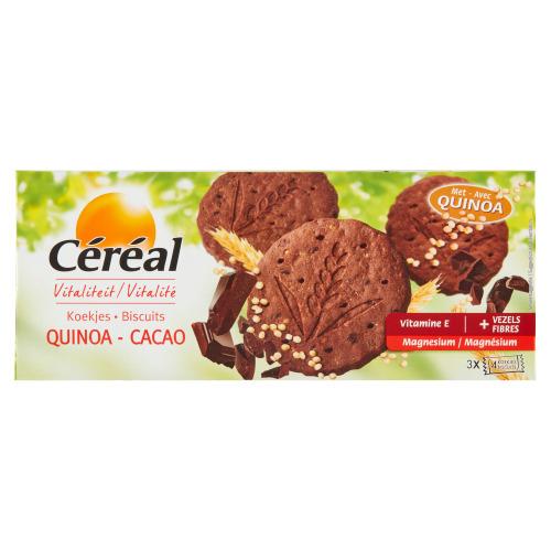 Céréal Vitaliteit Koekjes Quinoa - Cacao 3 x 4 Koekjes 132 g (132g)