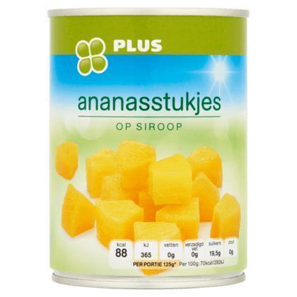 Ananasstukjes op siroop (blik, 567g)