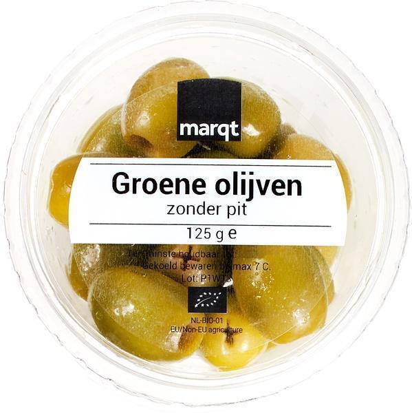 Groene olijven (125g)