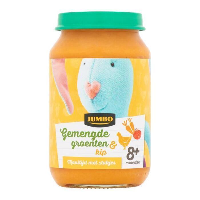 Jumbo Gemengde Groenten & Kip 8+ Maanden 200 g (200g)