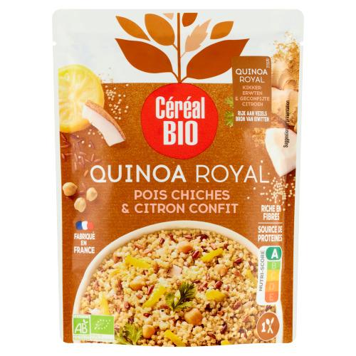 Céréal Bio Quinoa Royal Kikkererwten & Gekonfijte Citroen 220 g (220g)