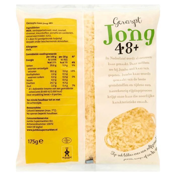 Jumbo Geraspt Kaas Jong 48+ 200 g (175g)