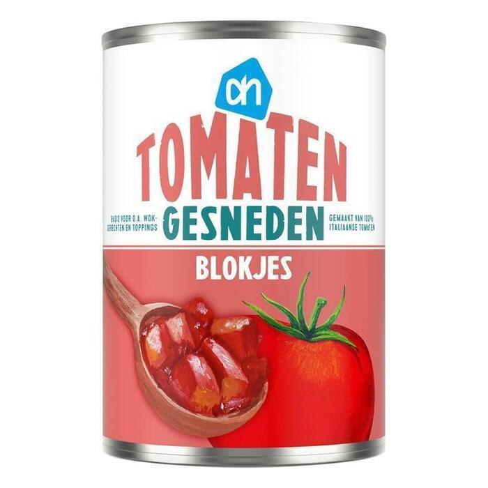 Blokjes Tomaat in sap (blik, 400g)