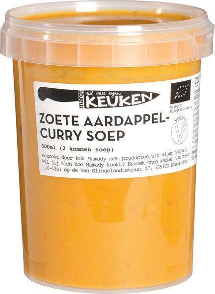 Zoete aardappelcurrysoep (0.5L)