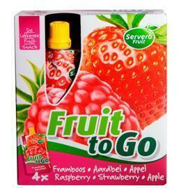 Fruit to go fruitsnack framb/aardb/ap (4 × 400g)
