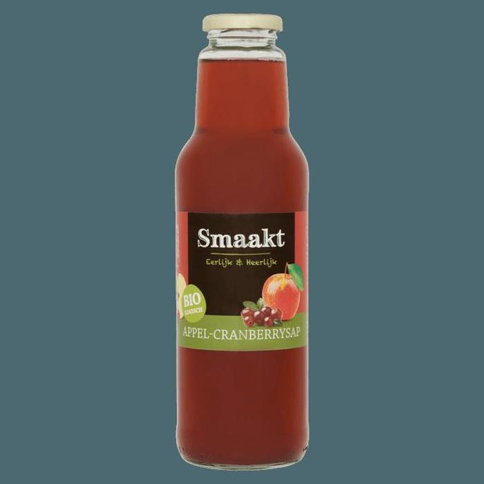 Smaakt Biologisch Appel-Cranberrysap 750ml (0.75L)