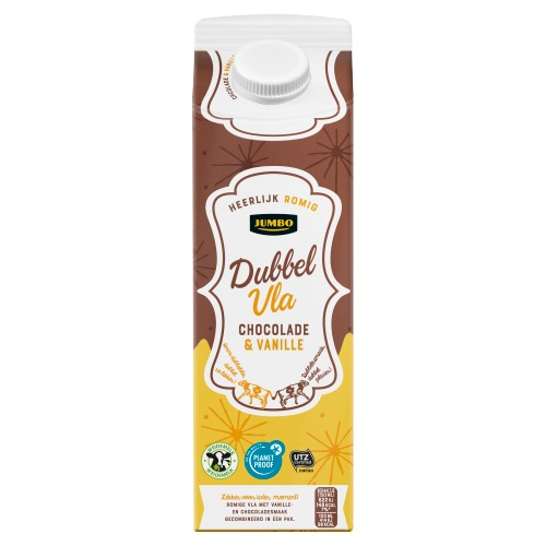 Jumbo Dubbelvla Vanille Chocolade 1 Liter (1L)