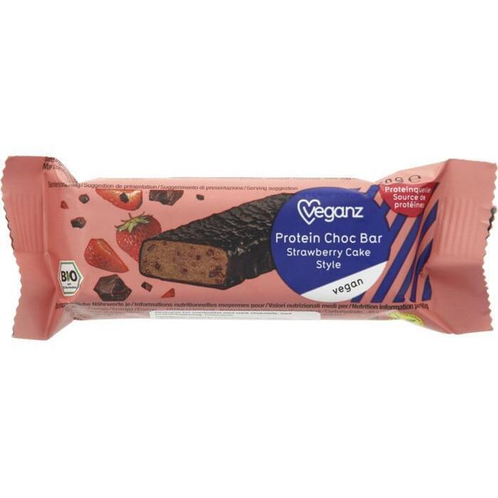Veganz Bio protein choc bar strawberry (50g)