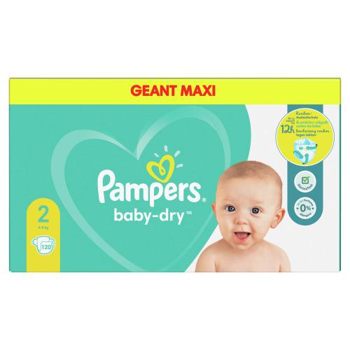 Pampers Baby-Dry Maat 2, 48 Luiers, Tot 12 Uur Bescherming, 4-8kg