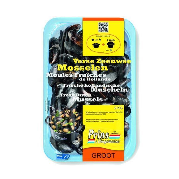 Prins&Dingemanse Grote Zeeuwse mosselen (2kg)