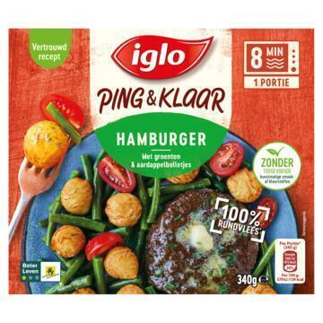 Iglo P&k hamburger beter leven (340g)