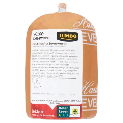 Jumbo Verse Vleeswaren Hausmacher Leverworst ca. 250 g